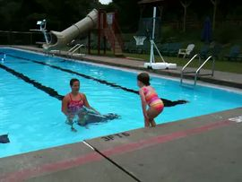 More swimming with Caileigh
