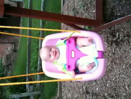 Keira swinging.... again